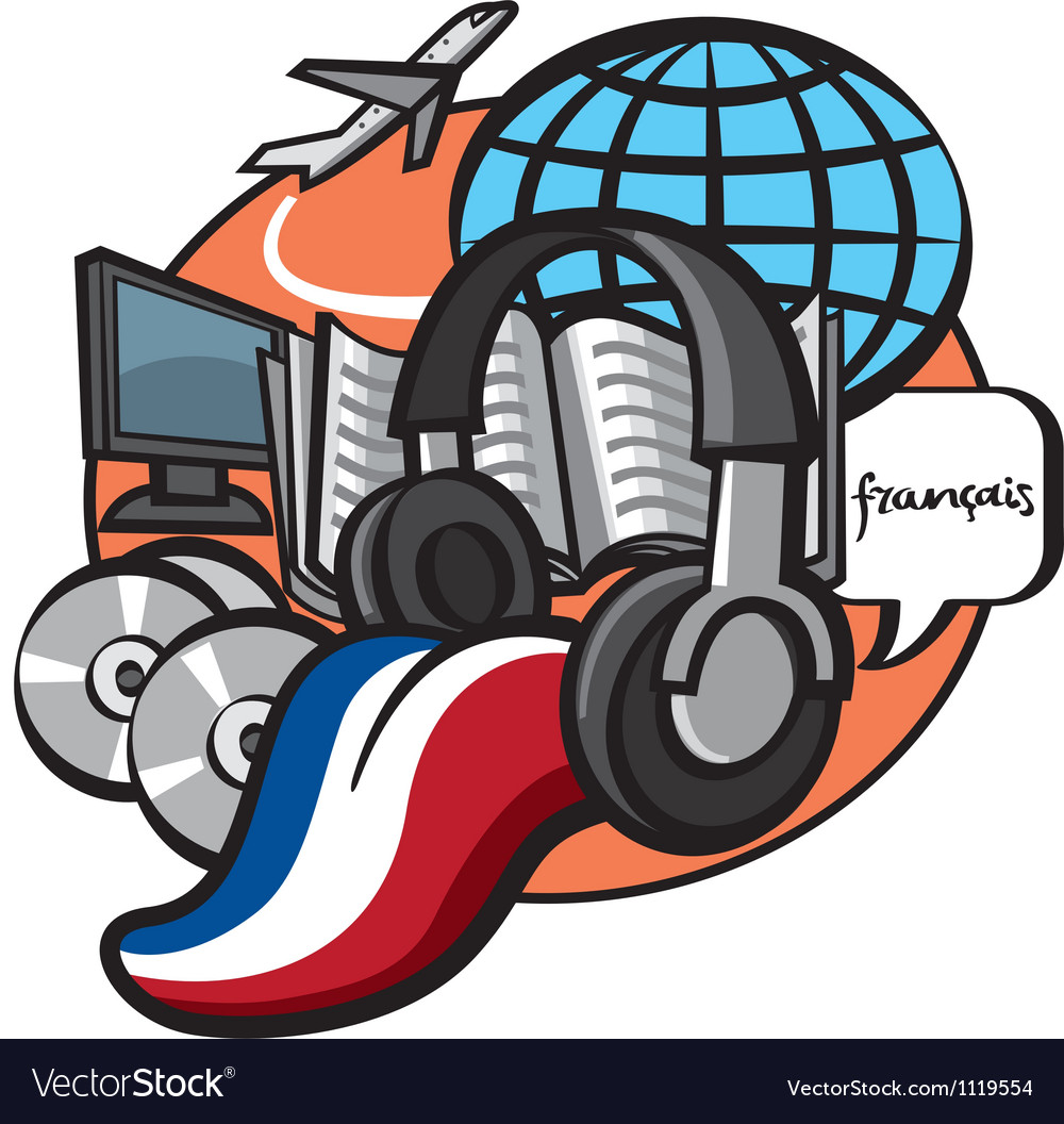 French language lessons vector | Price: 3 Credit (USD $3)