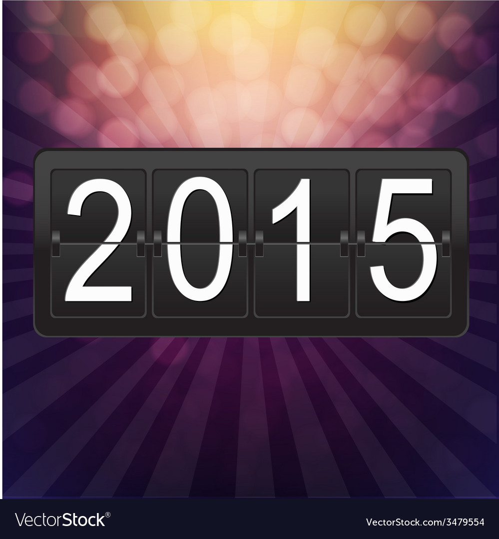 New years black counter vector | Price: 1 Credit (USD $1)