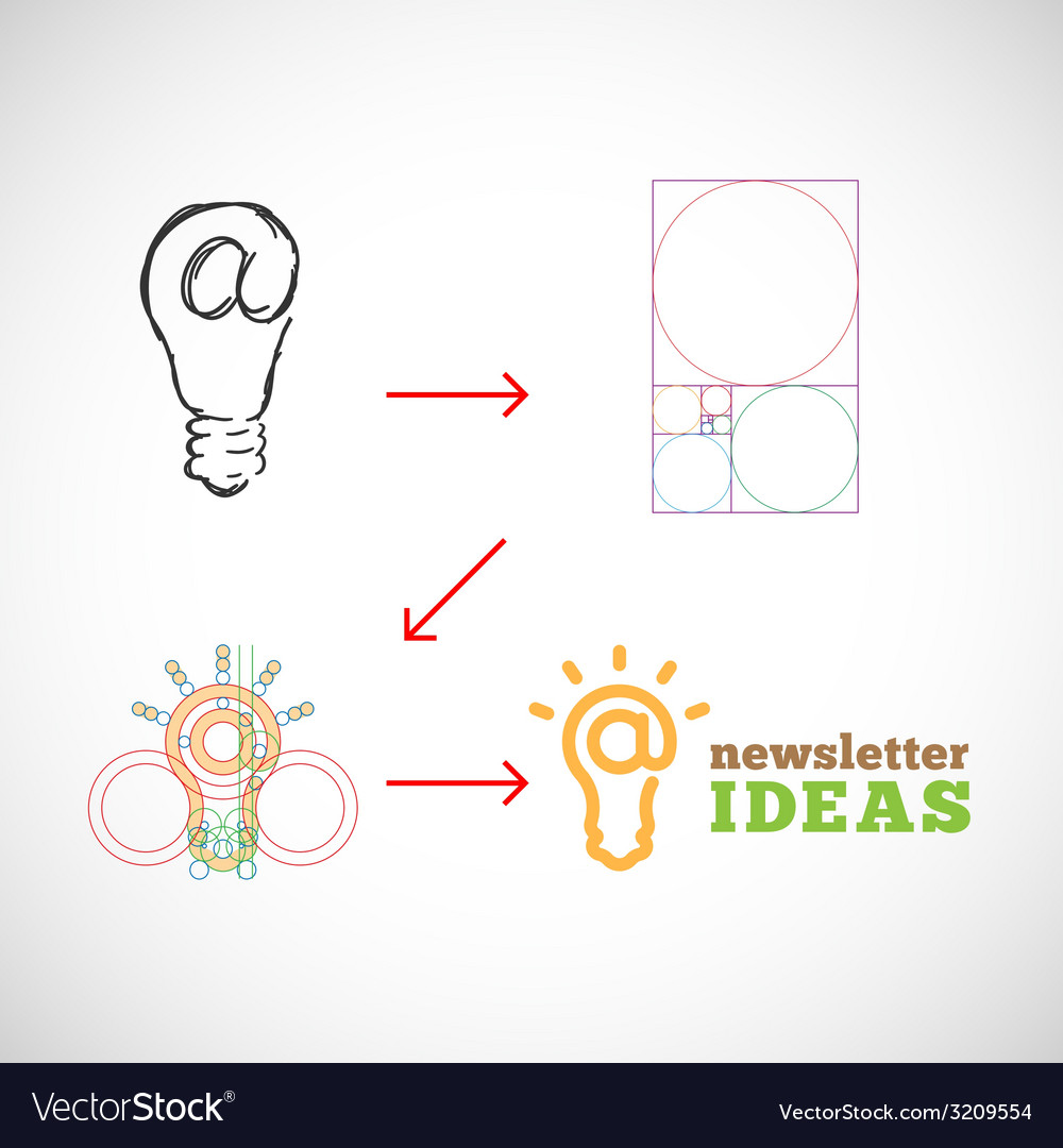 Newsletter ideas abstract logo template from idea vector | Price: 1 Credit (USD $1)