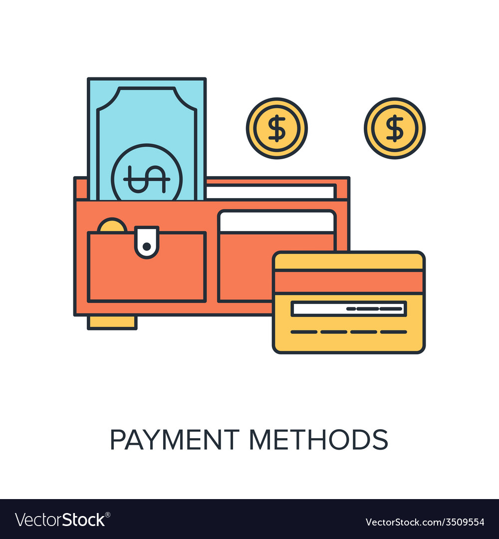 Payment methods vector | Price: 1 Credit (USD $1)