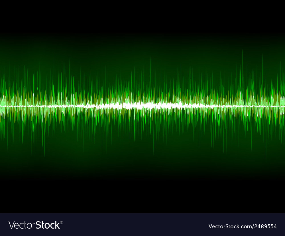 Sharp cool green waveform eps 8 vector | Price: 1 Credit (USD $1)
