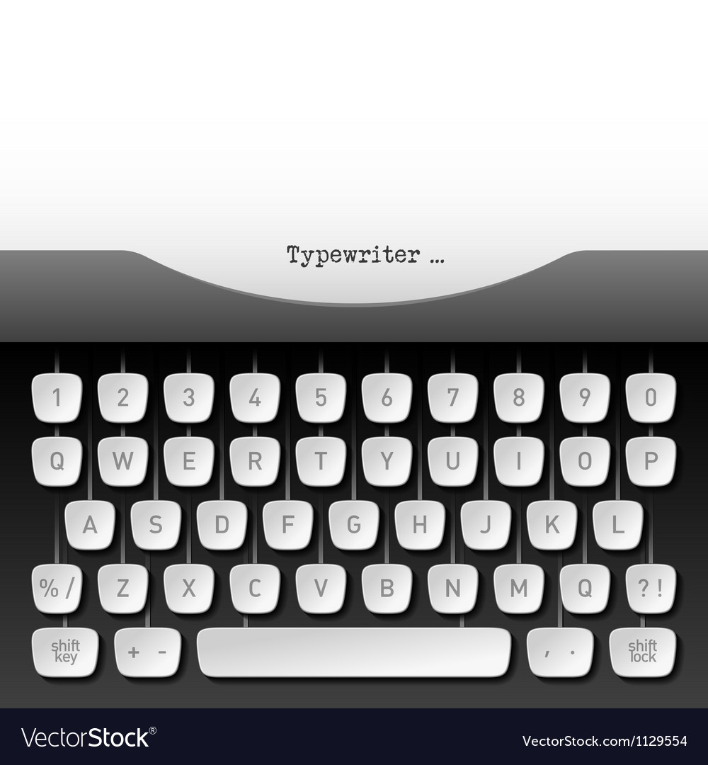 Typewriter vector | Price: 1 Credit (USD $1)
