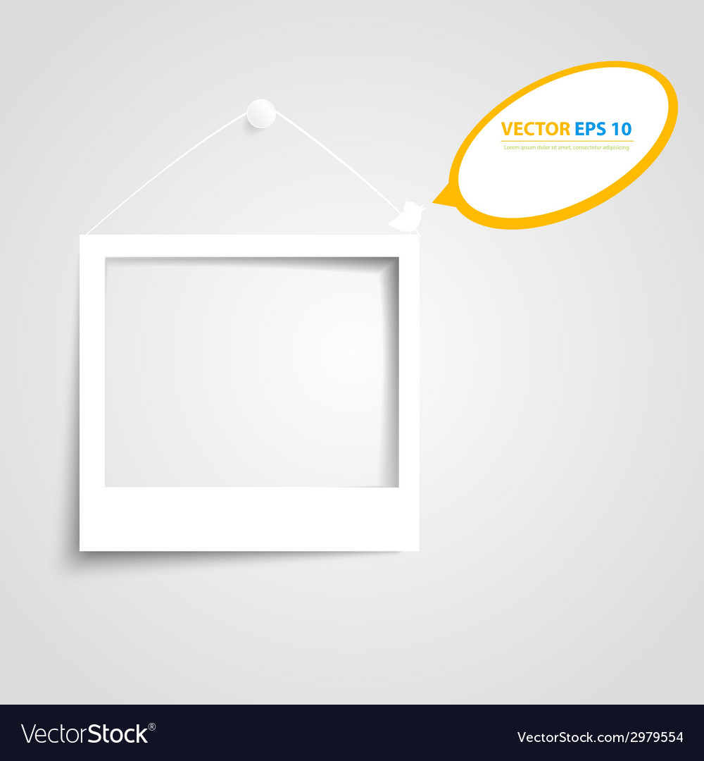 White frames on the wall vector | Price: 1 Credit (USD $1)