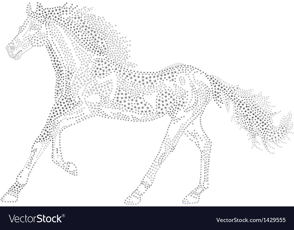 2014 chinese lunar new year of the horse zodiac vector | Price: 1 Credit (USD $1)