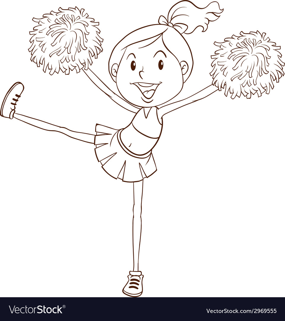 A simple sketch of a cheerleader vector | Price: 1 Credit (USD $1)