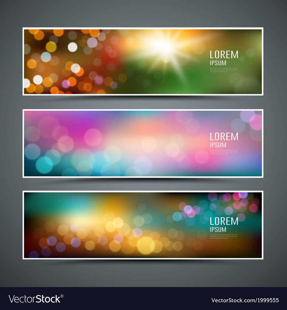 Abstract bokeh collections background vector | Price: 1 Credit (USD $1)