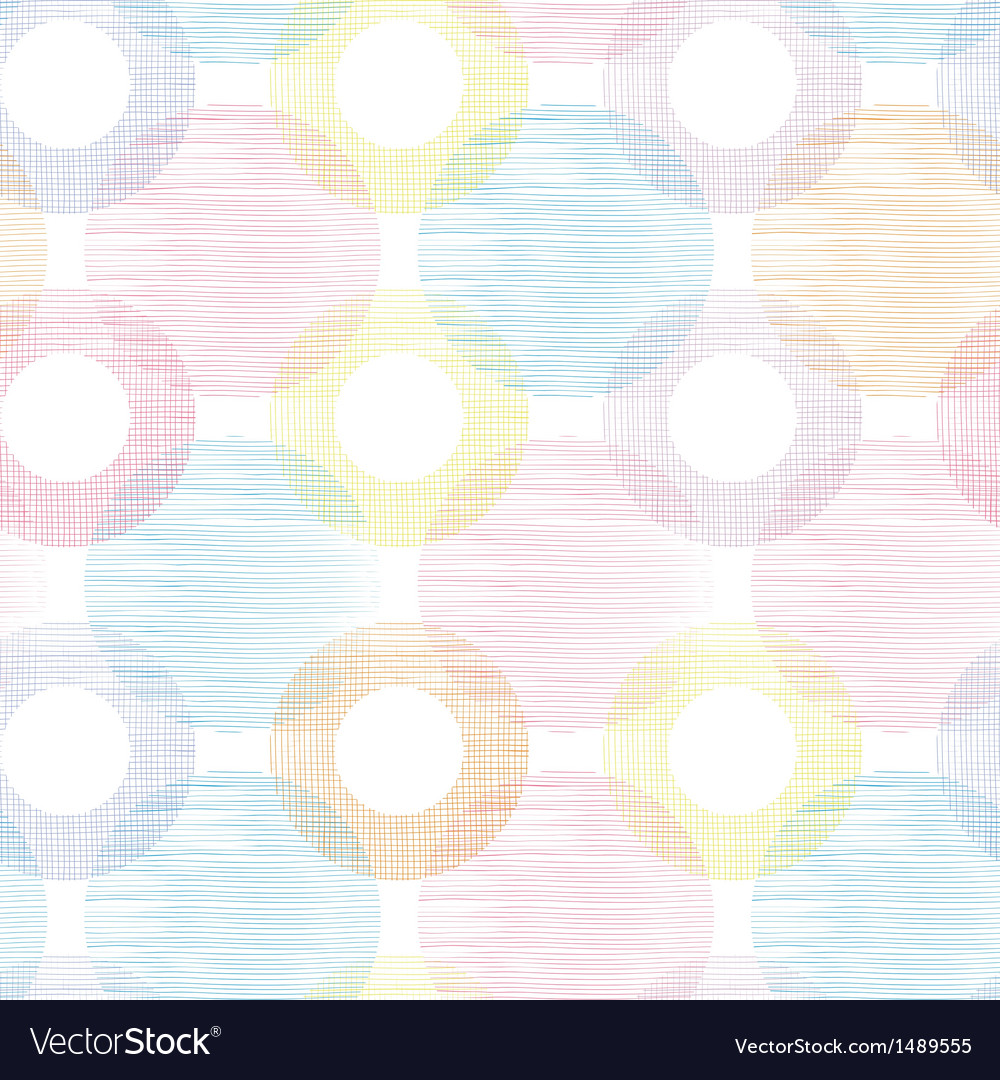 Colorful textile circles seamless patter vector | Price: 1 Credit (USD $1)