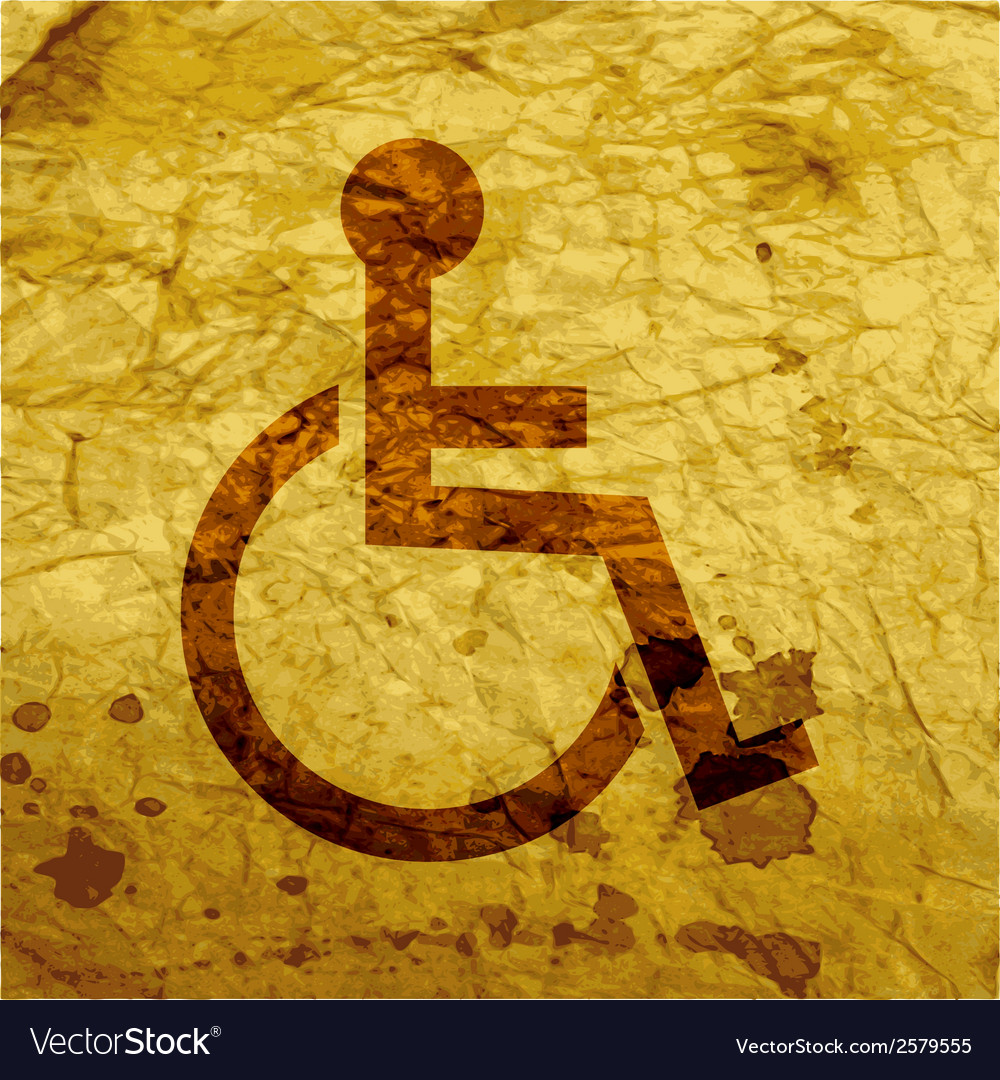 Disabled flat modern web button and space for your vector | Price: 1 Credit (USD $1)