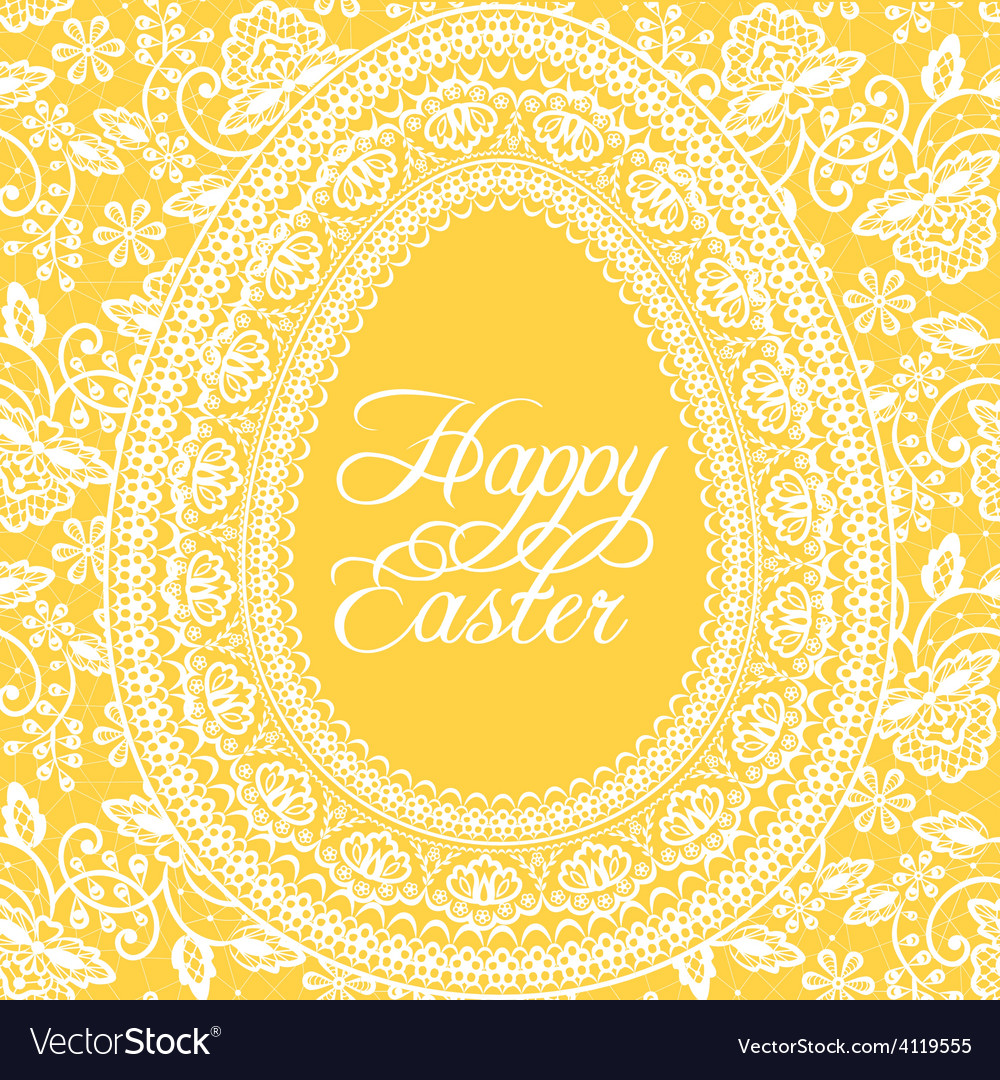 Easter yellow card vector | Price: 1 Credit (USD $1)
