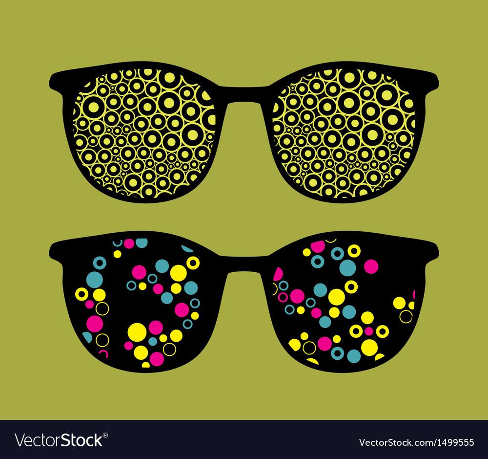 Retro sunglasses with cute background vector | Price: 1 Credit (USD $1)