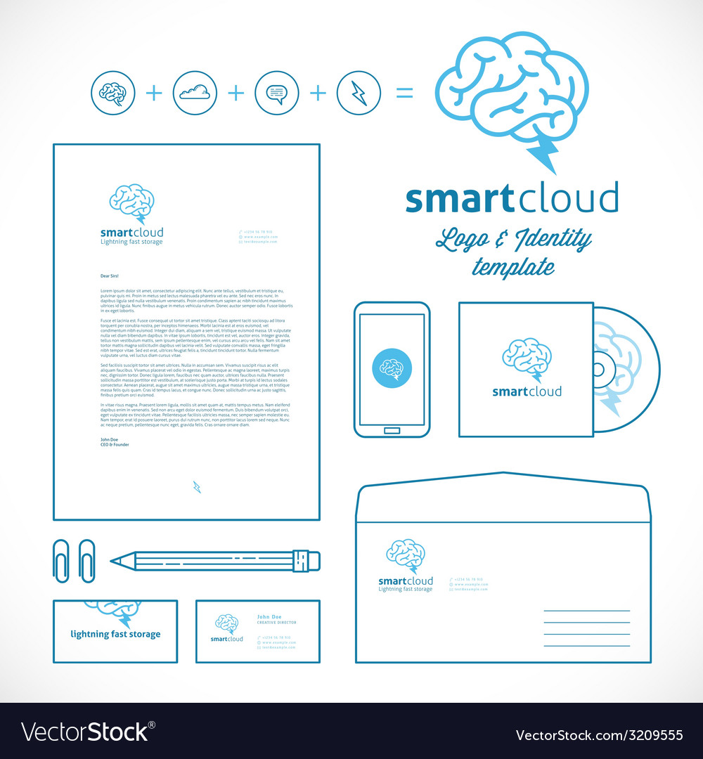 Smart cloud logo and identity template vector | Price: 1 Credit (USD $1)