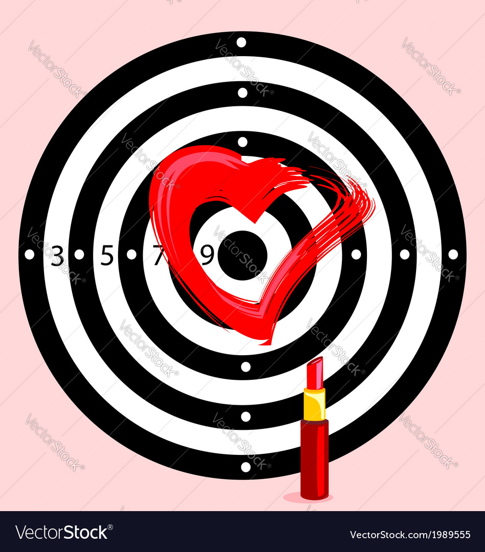 Target with heart vector | Price: 1 Credit (USD $1)