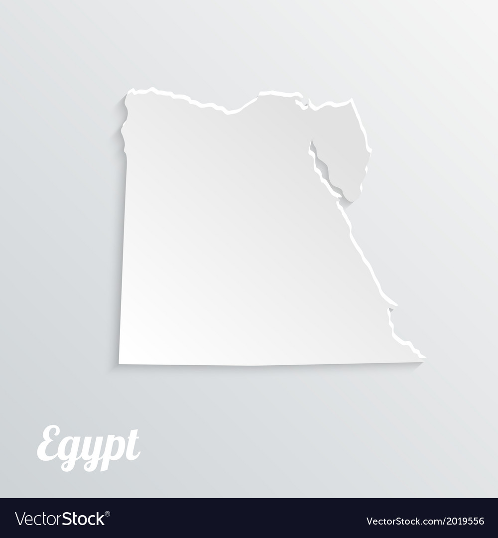 Abstract icon map of egypt on a gray background vector | Price: 1 Credit (USD $1)