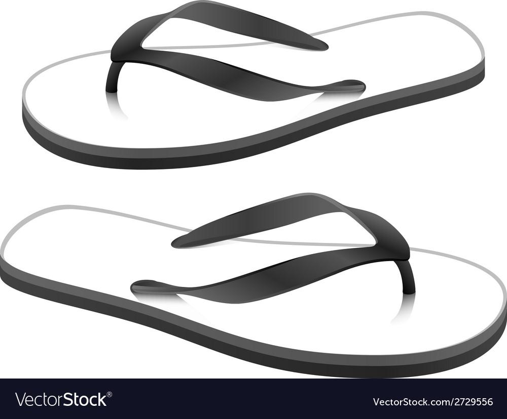 Beach sandals vector | Price: 1 Credit (USD $1)