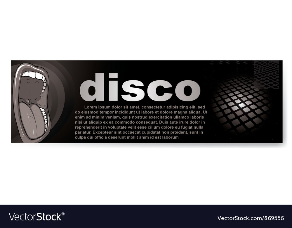 Disco banner vector | Price: 1 Credit (USD $1)