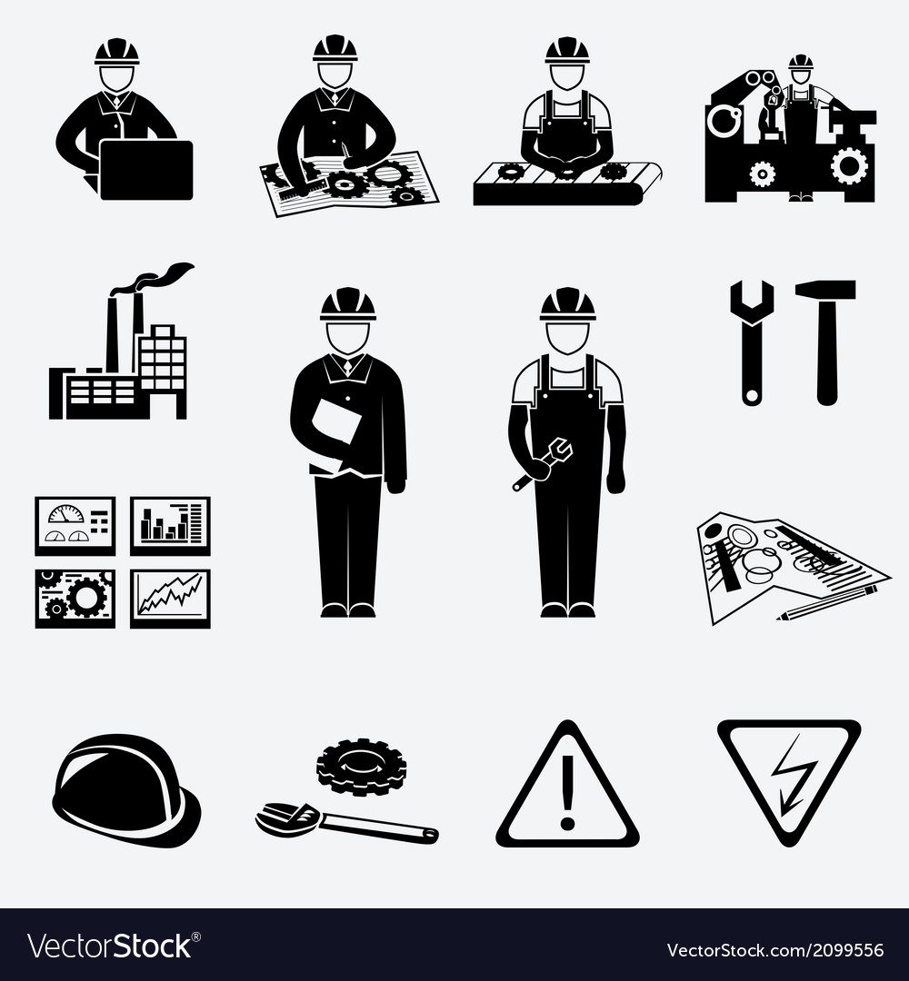 Engineering icons set vector | Price: 1 Credit (USD $1)
