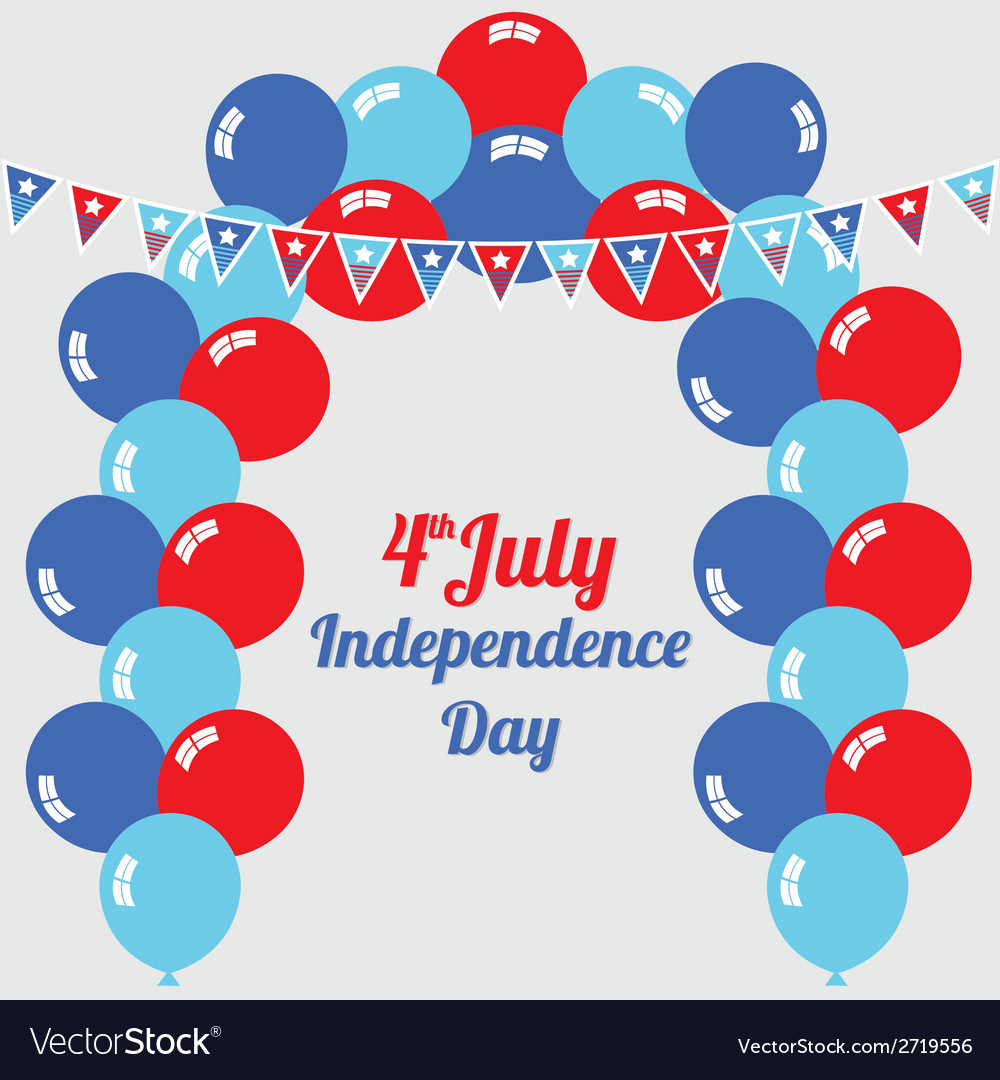 Fourth of july independence day vector | Price: 1 Credit (USD $1)