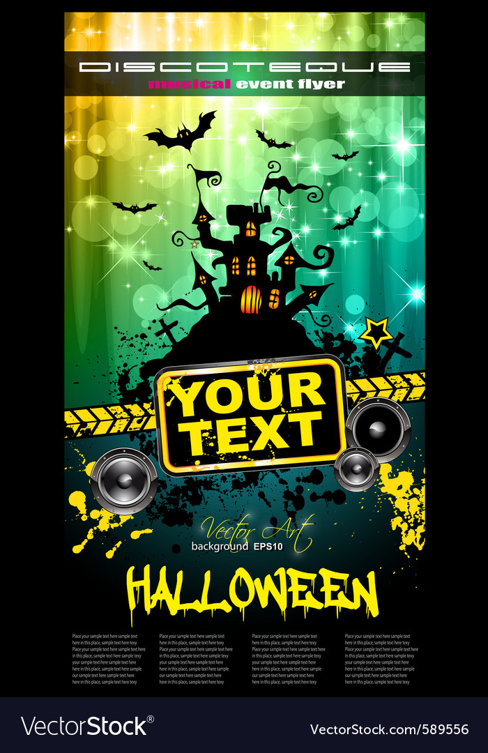Hallowen party flyer vector | Price: 3 Credit (USD $3)