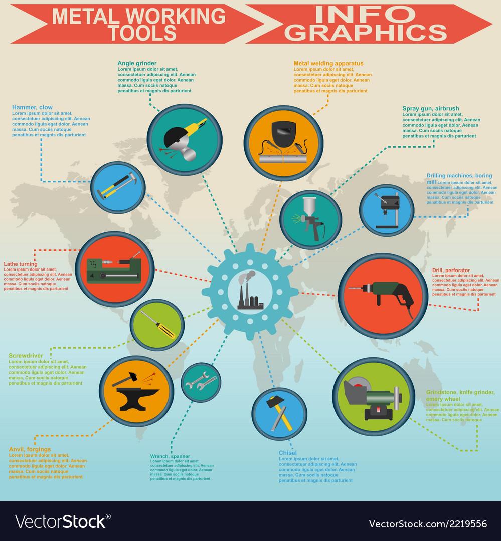 Metallurgy infographics vector | Price: 1 Credit (USD $1)