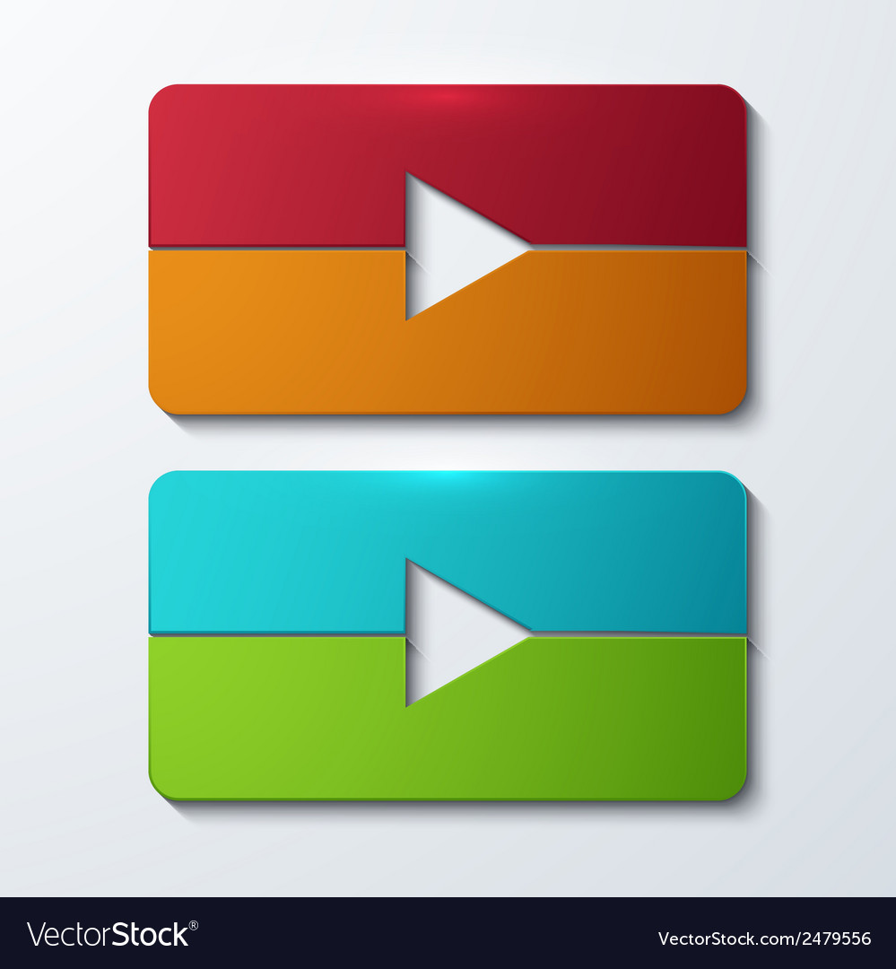 Modern play set icons vector | Price: 1 Credit (USD $1)