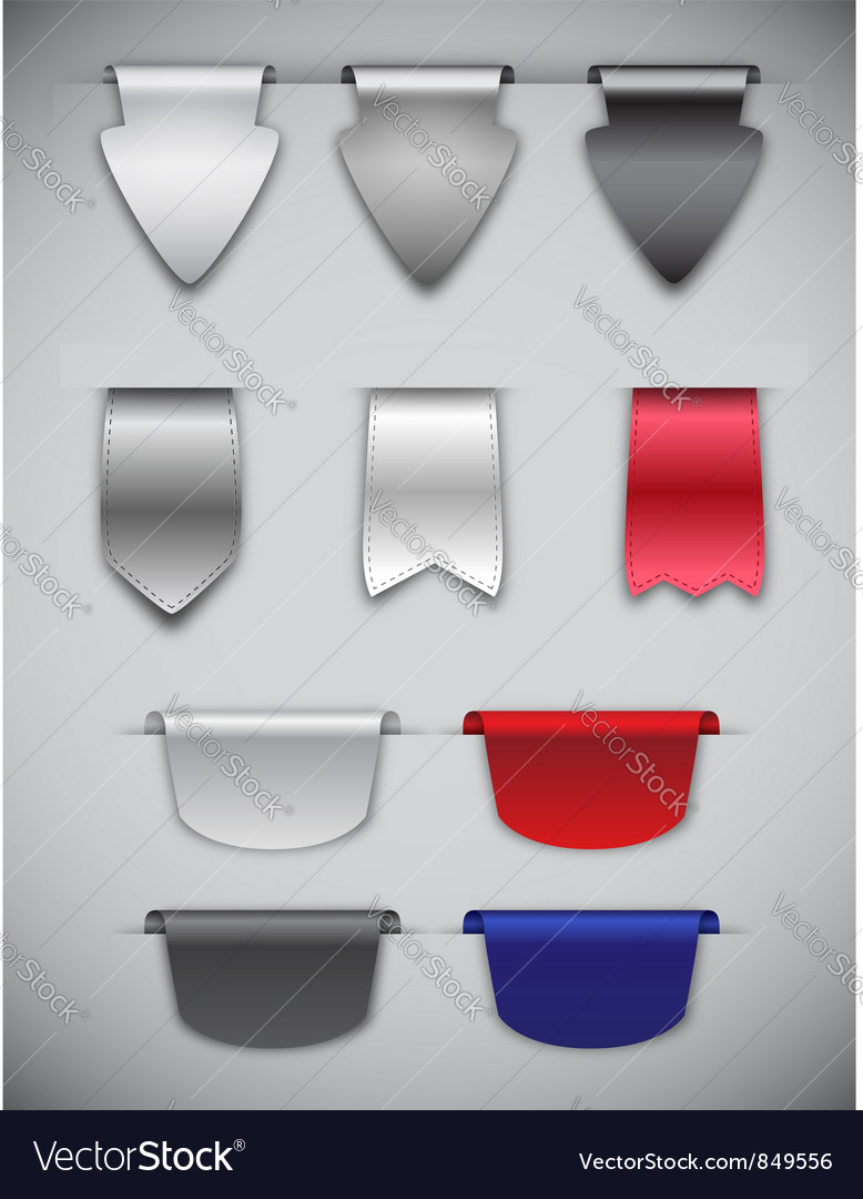 Ribbons and bookmarks vector | Price: 1 Credit (USD $1)