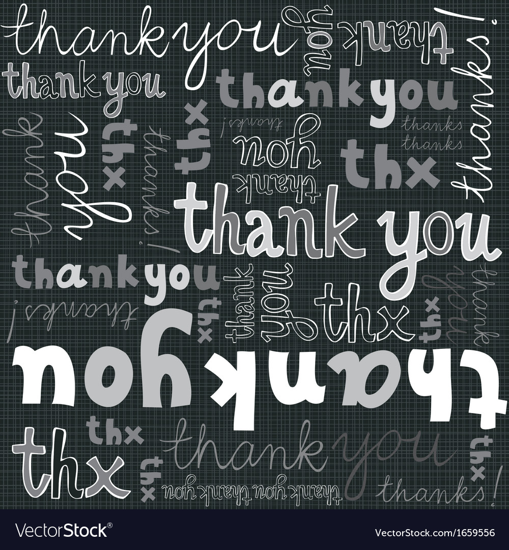 Thank you seamless background vector | Price: 1 Credit (USD $1)