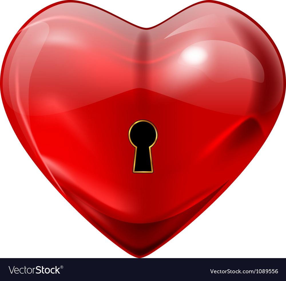 Unlock my heart vector | Price: 1 Credit (USD $1)