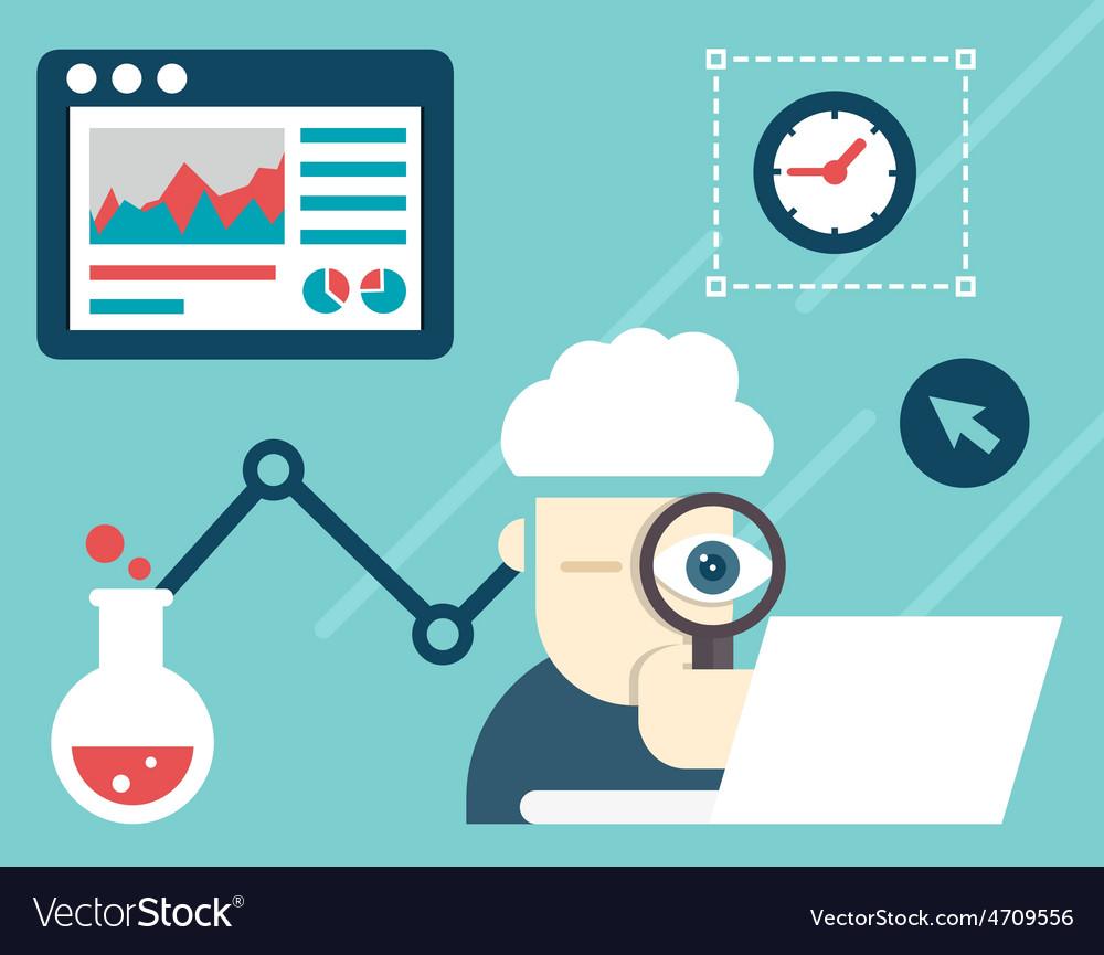 Web analytics information and development vector | Price: 1 Credit (USD $1)