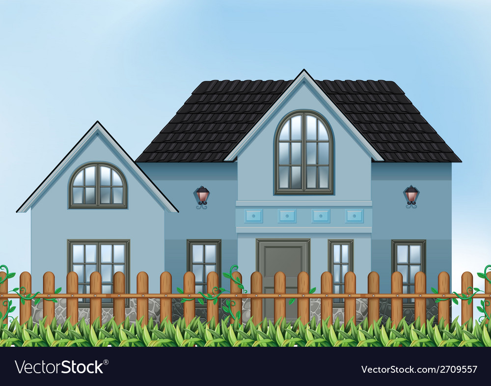 A single detached house vector | Price: 1 Credit (USD $1)