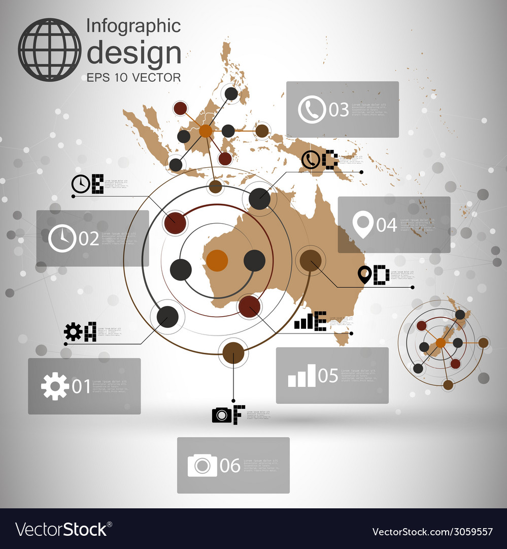 Australia map background  infographic design for vector | Price: 1 Credit (USD $1)