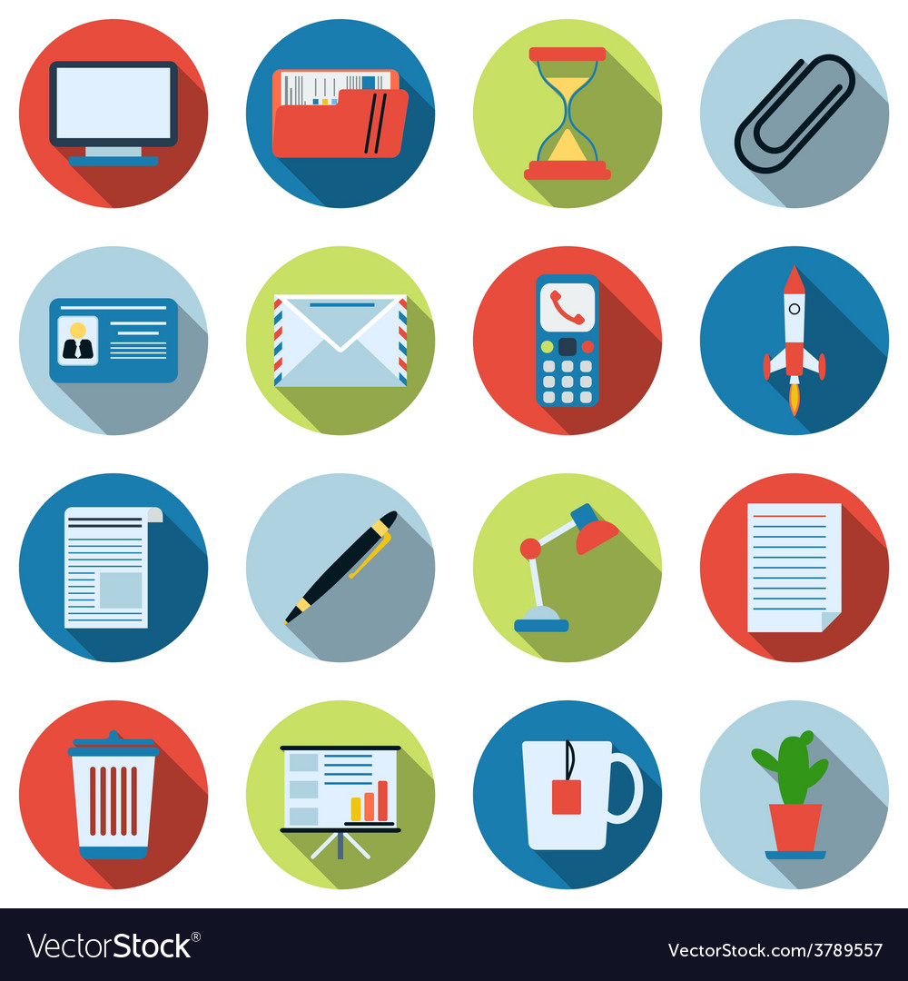 Business and office icons collection vector | Price: 1 Credit (USD $1)