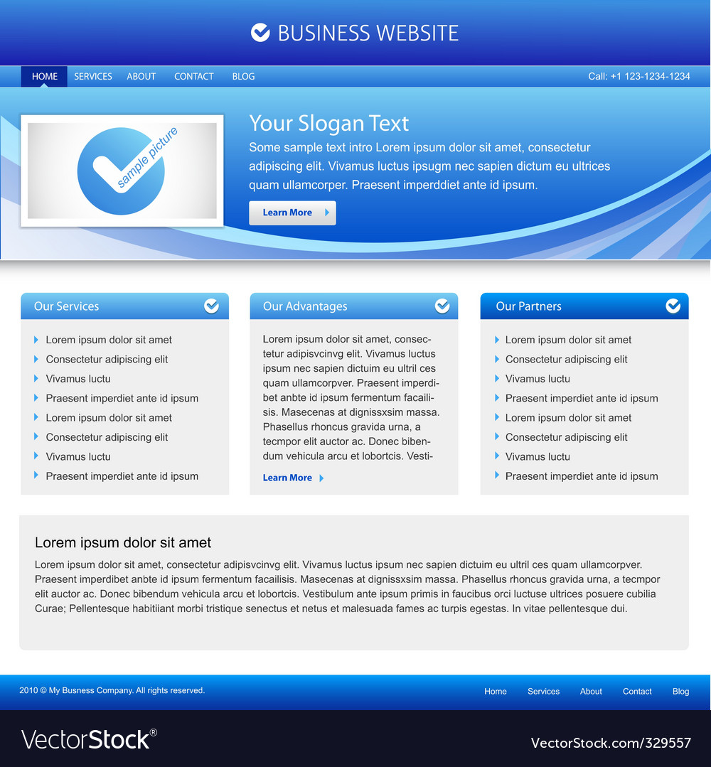 Business company website vector | Price: 3 Credit (USD $3)