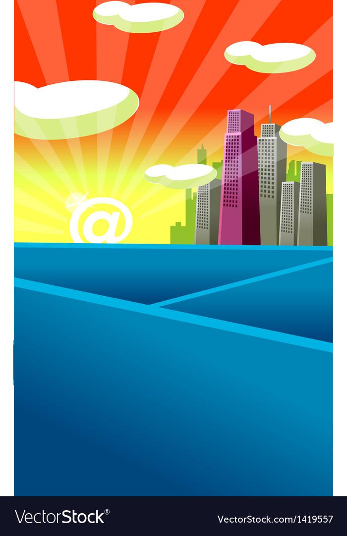City skyline symbol vector   Price: 1 Credit (USD $1)