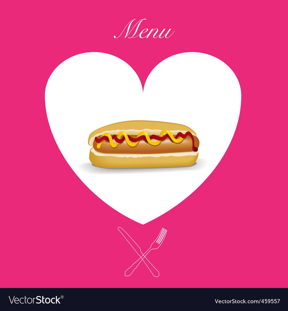 Hot dog menu cover vector | Price: 1 Credit (USD $1)