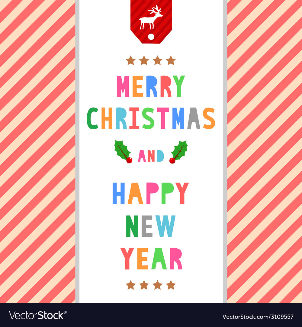 Mc and hny greeting card8 vector | Price: 1 Credit (USD $1)