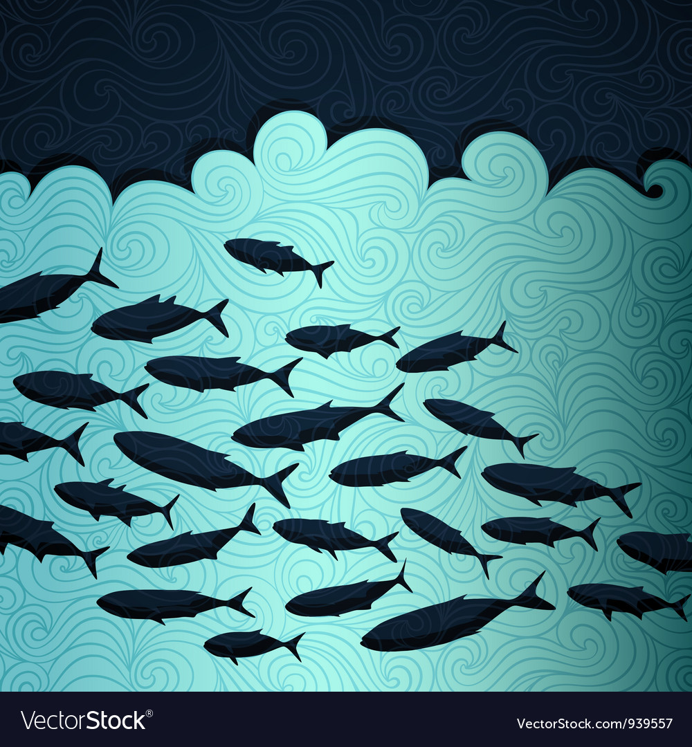Ocean life vector | Price: 1 Credit (USD $1)