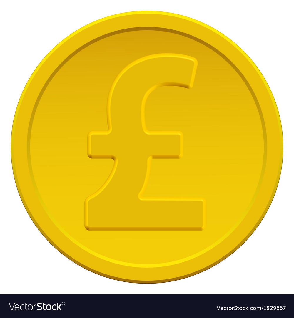 Pound sterling coin vector | Price: 1 Credit (USD $1)