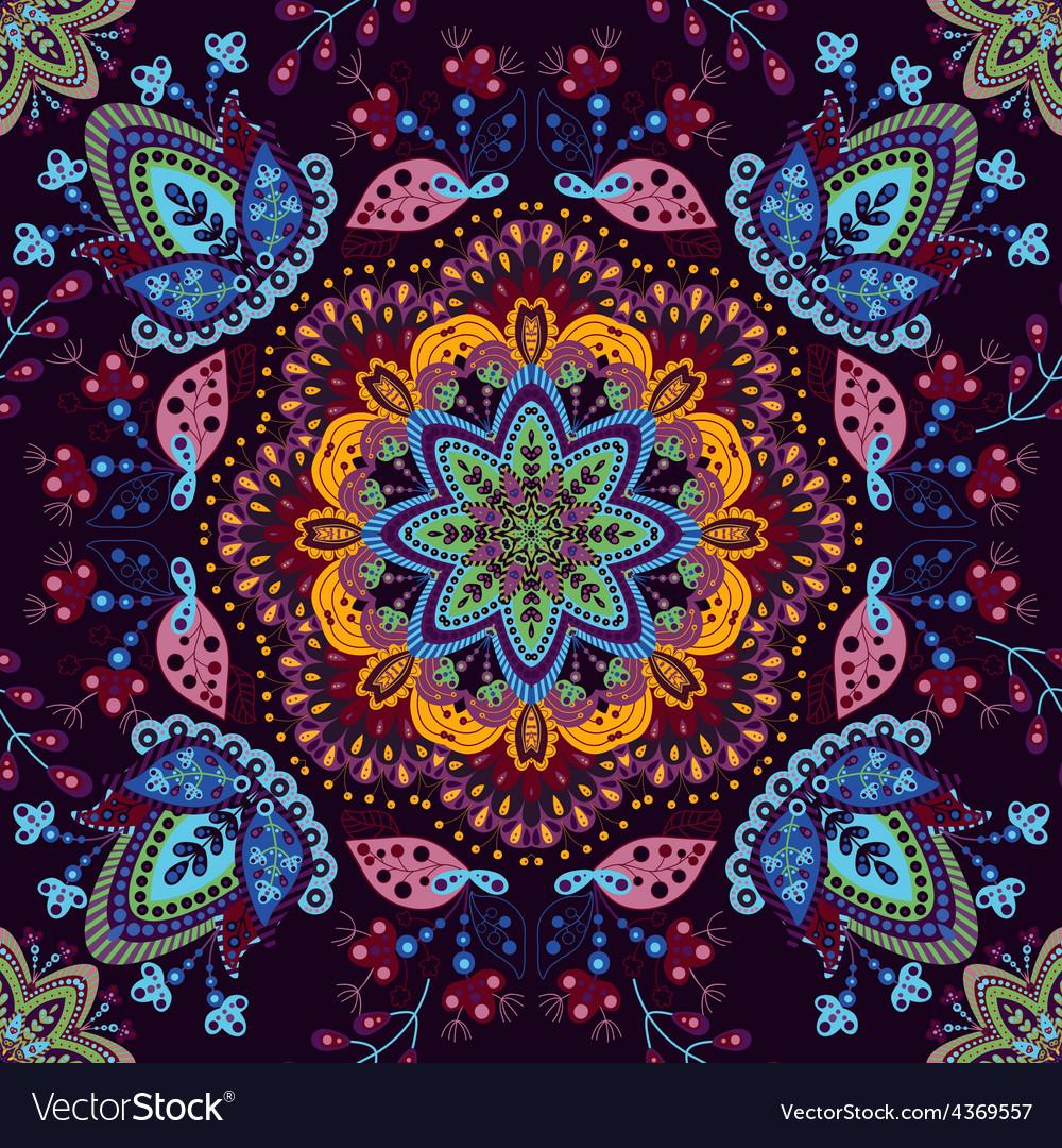 Seamless pattern ornamental wallpaper vector | Price: 1 Credit (USD $1)