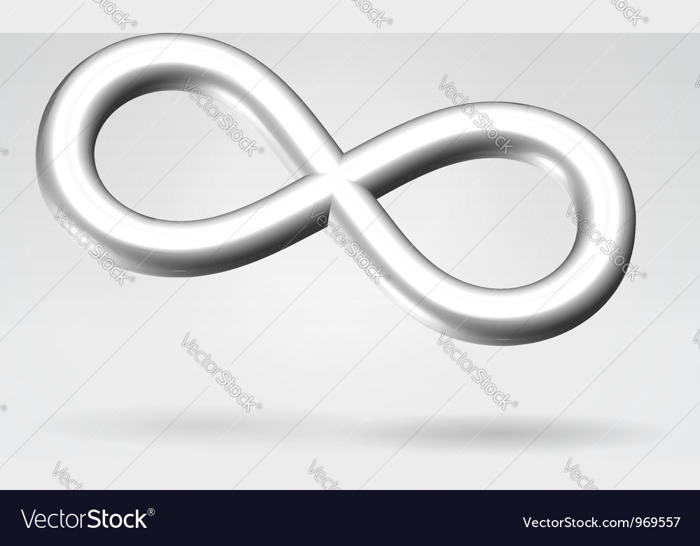 Silver infinity metal symbol vector | Price: 1 Credit (USD $1)