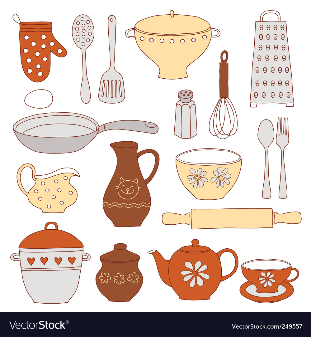 Tableware and kitchen tools vector | Price: 1 Credit (USD $1)