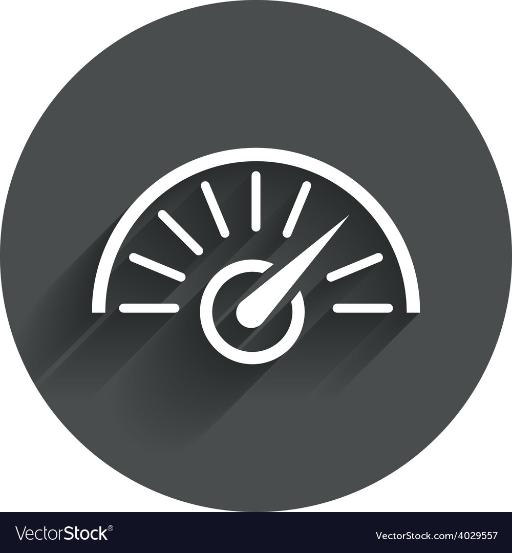 Tachometer sign icon revolution-counter symbol vector   Price: 1 Credit (USD $1)