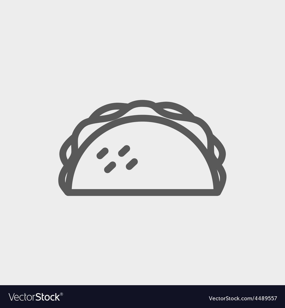 Taco thin line icon vector   Price: 1 Credit (USD $1)