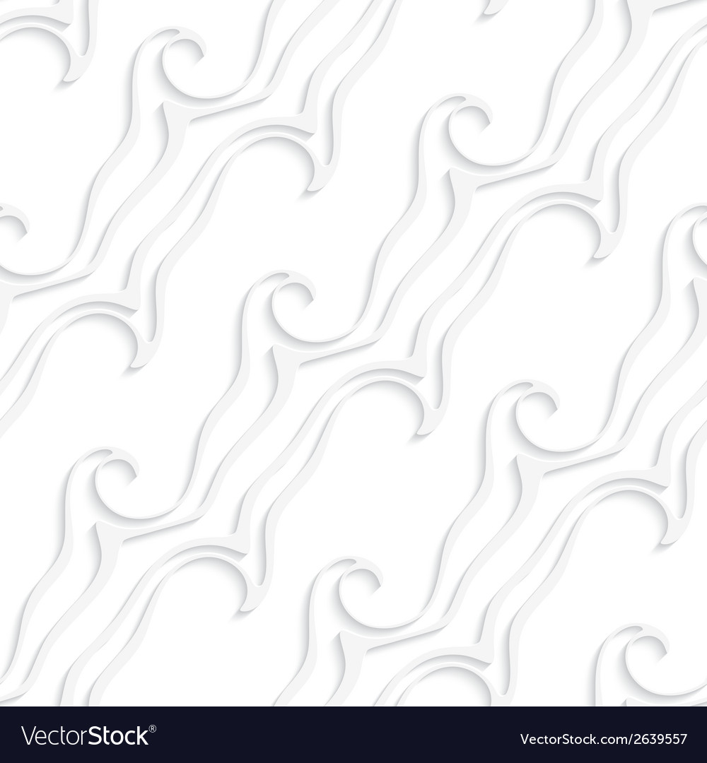 White striped curved lines and swirls seamless vector | Price: 1 Credit (USD $1)