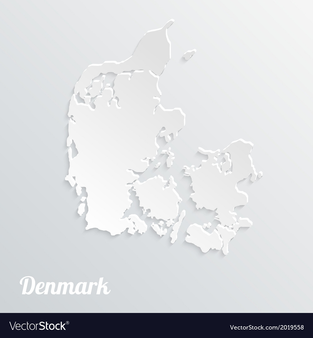 Abstract icon map of denmark on a gray background vector | Price: 1 Credit (USD $1)