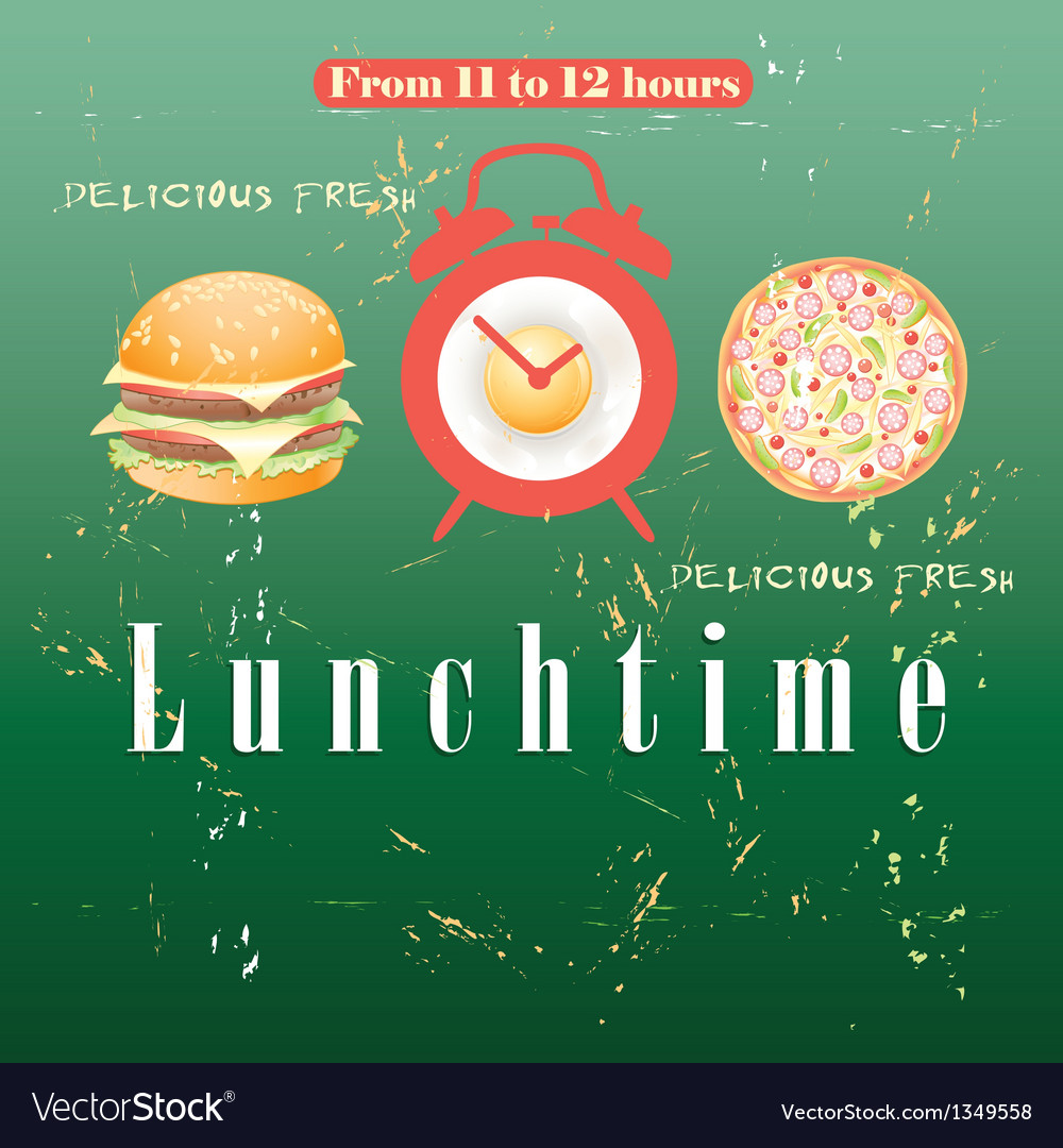 Advertise lunch vector | Price: 1 Credit (USD $1)
