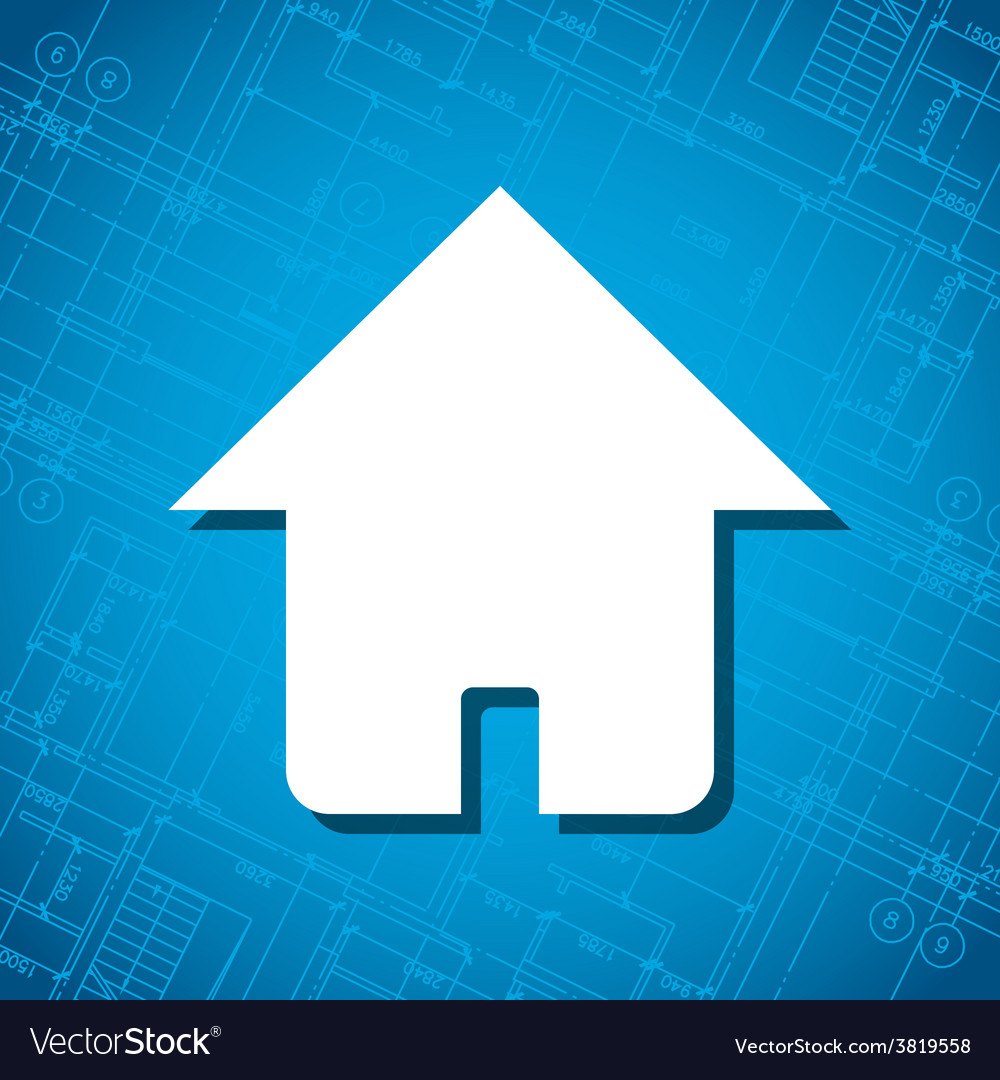 Blueprint home icon vector | Price: 1 Credit (USD $1)