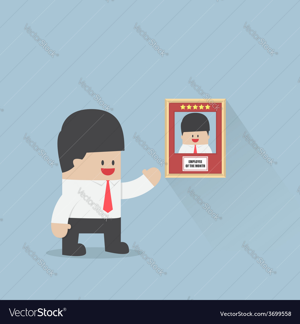 Employee of the month award business concept vector | Price: 1 Credit (USD $1)