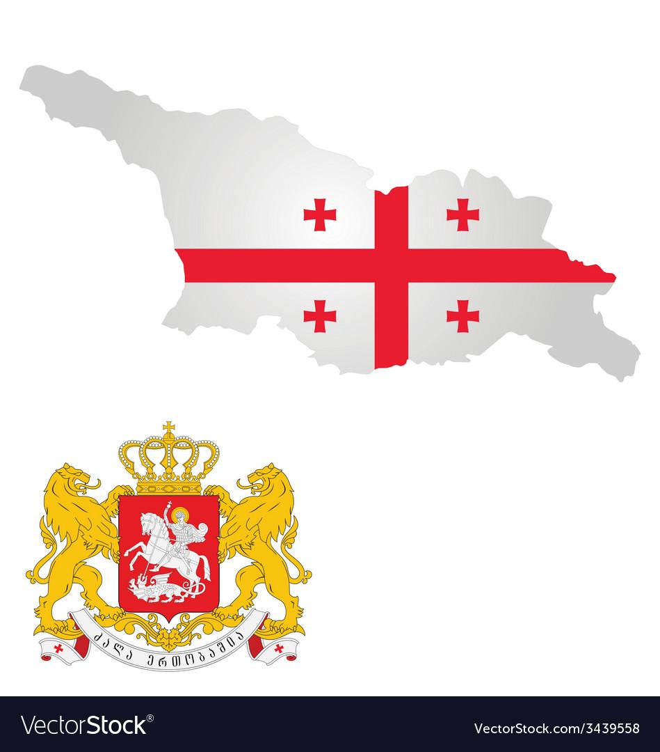 Georgia flag vector   Price: 1 Credit (USD $1)