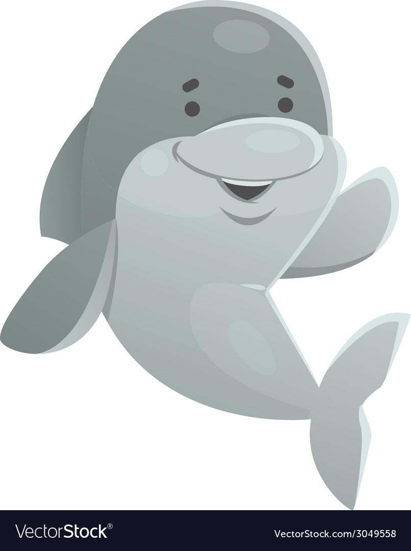 Happy dolphin vector | Price: 1 Credit (USD $1)