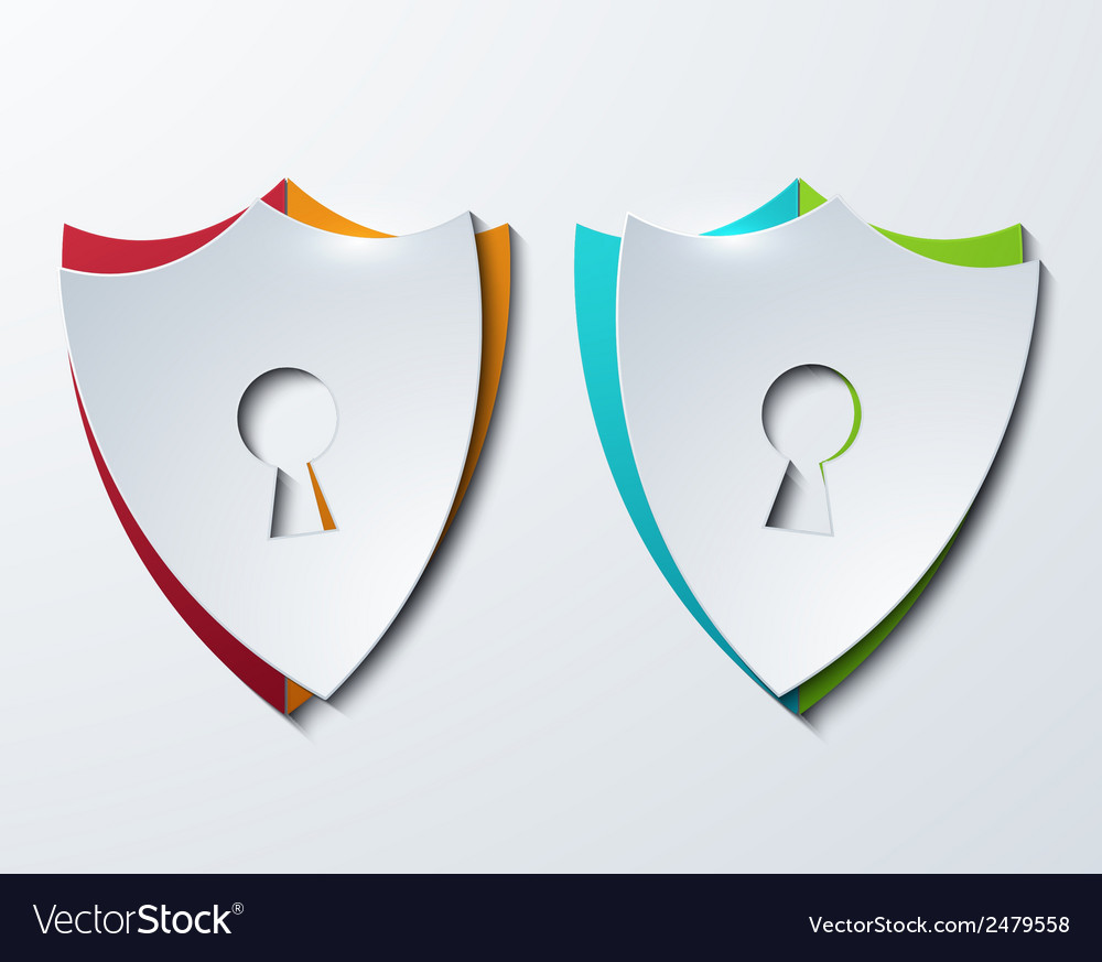 Modern shield set on sample background vector | Price: 1 Credit (USD $1)